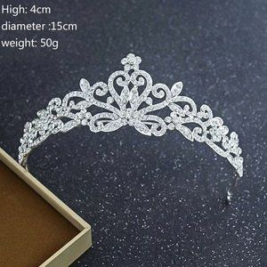 Crystal Tiara Princess Prom Wedding Crown